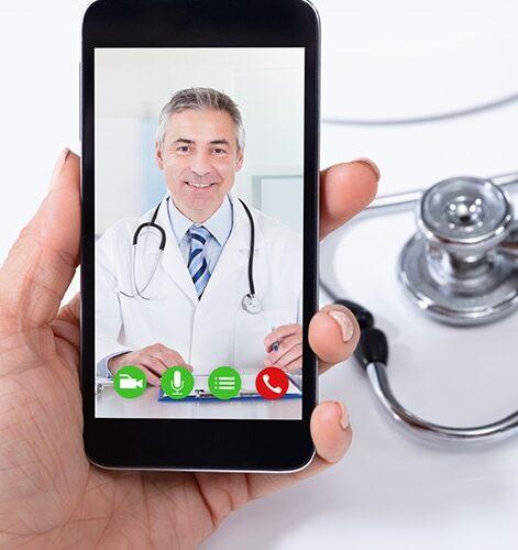 Videochat mit Arzt